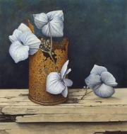 Blikje met gedroogde hortensia © Aad Hofman