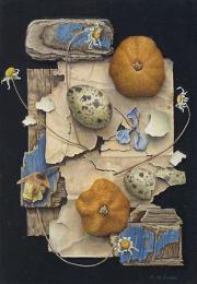 Compositie met gedroogde mandarijnen © Aad Hofman