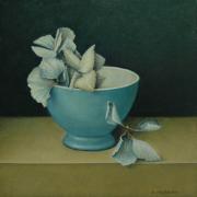 Kom met gedroogde hortensia © Aad Hofman
