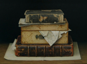 Boekenstilleven met kistje / Still life with books and casket © Aad Hofman