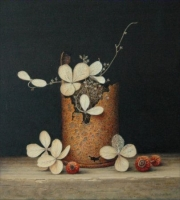 Blikje met hortensia © Aad Hofman