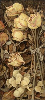 Gedroogde roosjes / Dried roses © Aad Hofman