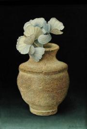 Vaasje met gedroogde hortensia / Vase with dried hydrangea © Aad Hofman